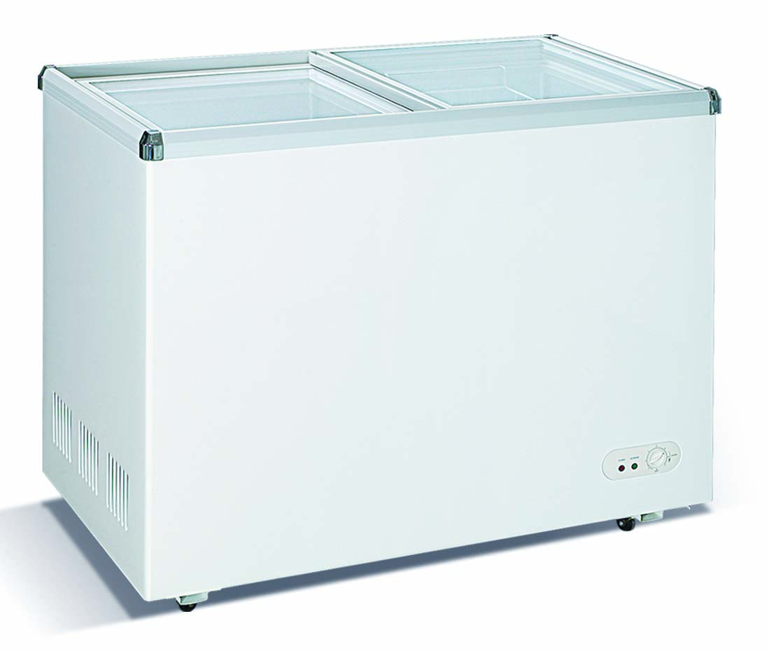 Flat Glass Door Chest Freezer